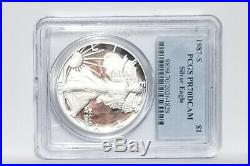 1987-S $1 Proof Silver Eagle PCGS PR70DCAM TOP POP PERFECT COIN NO TONING