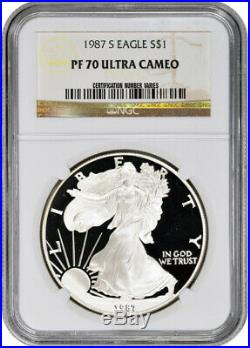 1987-S American Silver Eagle Proof NGC PF70 UCAM