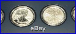 2011 American Silver Eagle 25th Anniversary 5-Coin Set Low Mintage Reverse Proof