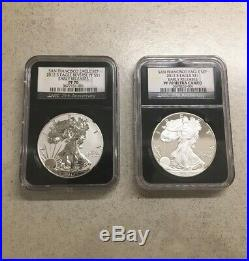 2012 S Silver Eagle Proof Set NGC PF 70 Reverse And Ultra Cameo Early Releases