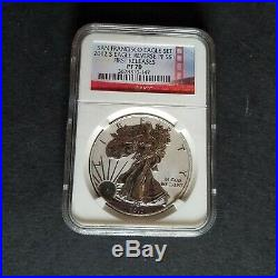 2012 S Silver Eagle San fancisco Set First Release PF70 Reverse Proof and Proof