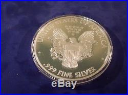 2014 Proof Silver Eagle. 999 fine silver 4 troy ounces IN STOCK NOW