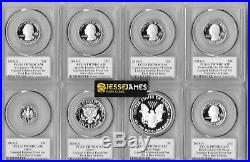2018 S Proof Silver Eagle Pcgs Pr70 Dcam Cleveland First Day Limited Edition Set