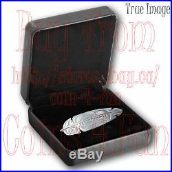 2019 Eagle Feather $20 1 OZ Pure Silver Proof Coin Canada