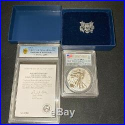 2019-S American Eagle One Ounce Silver Enhanced Reverse Proof Coin 70