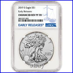 2019-S American Silver Eagle Enhanced Reverse Proof NGC PF70 Early Releases