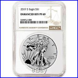 2019-S Enhanced Reverse Proof $1 American Silver Eagle NGC PF69 Brown Label