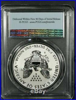 2019-S PCGS PR70 ENHANCED REVERSE PROOF SILVER EAGLE FIRST STRIKE With BOX & COA