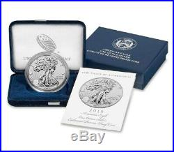 IN HAND 2019-S American Eagle One Ounce Silver Enhanced Reverse Proof Coin